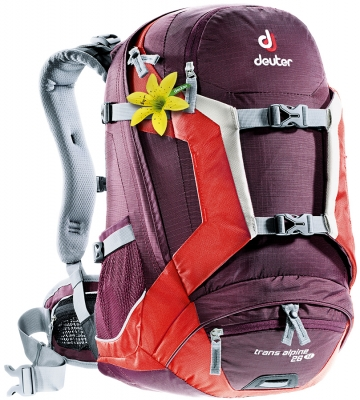 Рюкзак Deuter 2015 Bike Trans Alpine 26 SL aubergine-fire