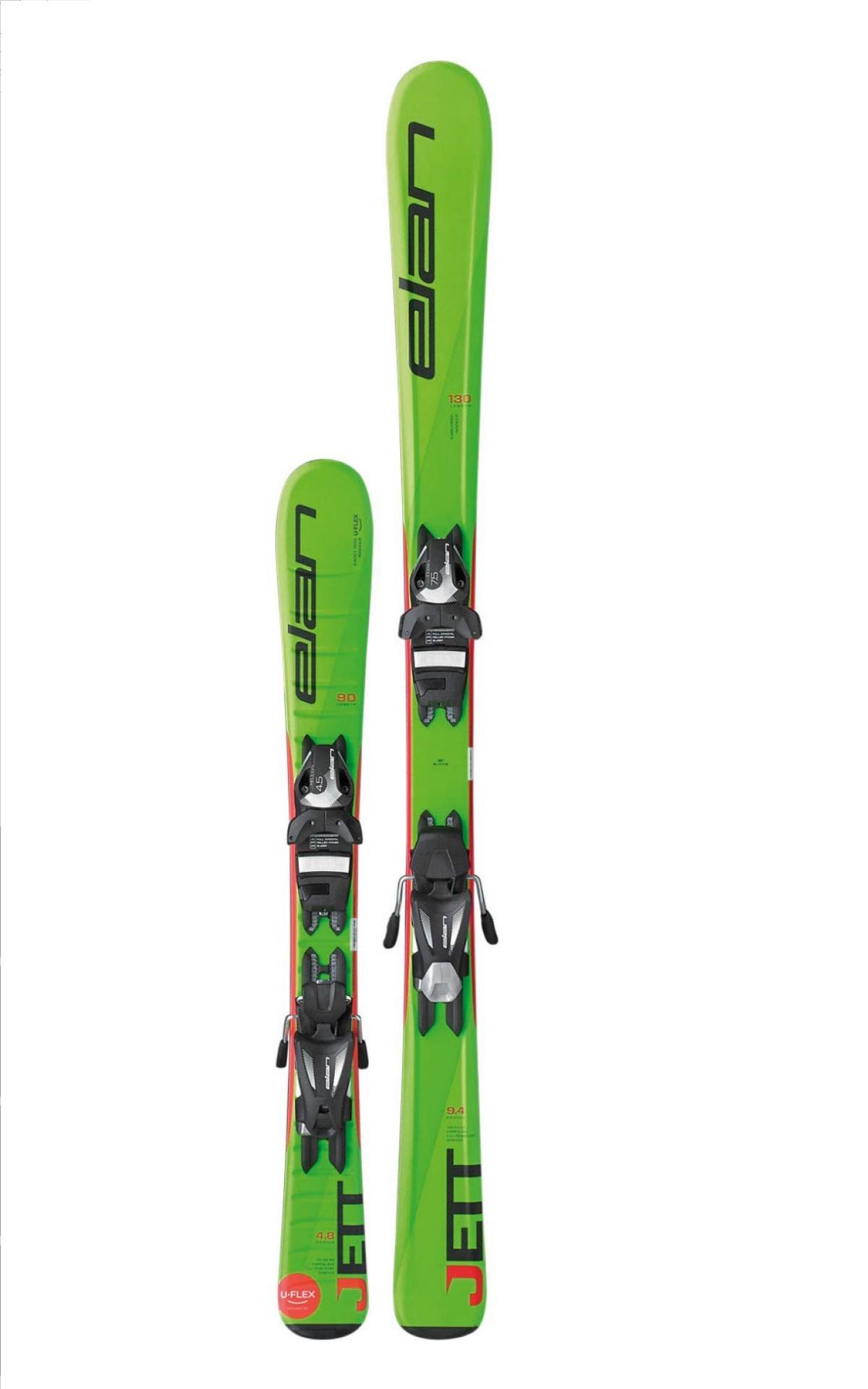 Горные лыжи с креплениями Elan 2016-17 JETT QT EL 7.5 (130-150)