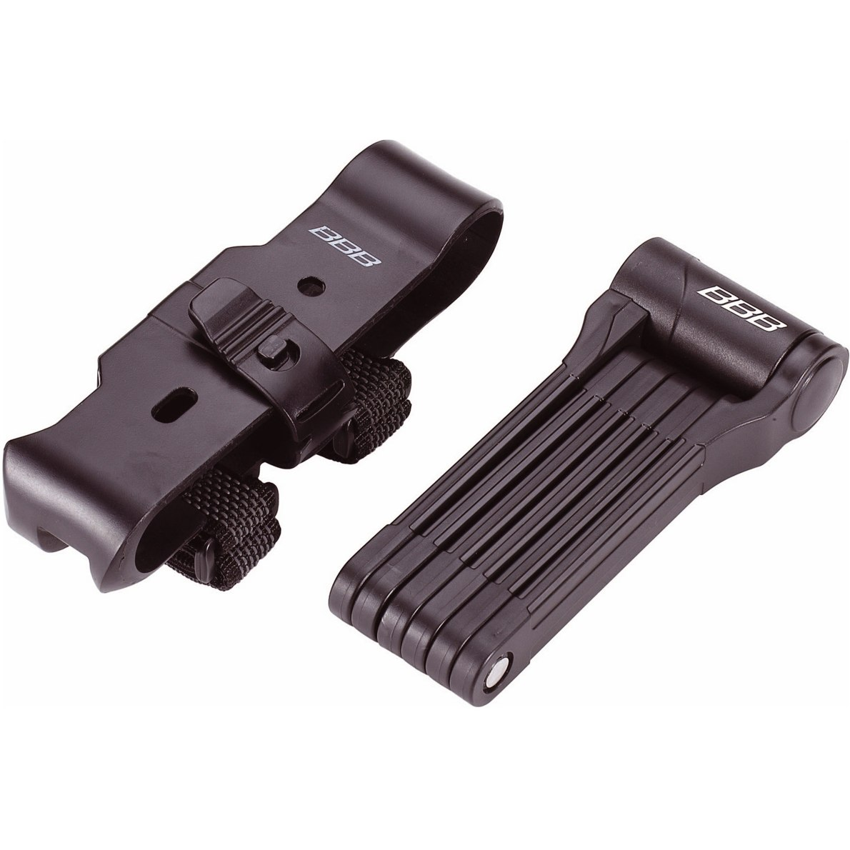 Замок велосипедный BBB PowerFold black with bracket (BBL-71)