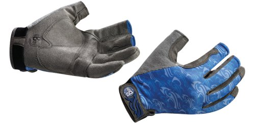 Перчатки рыболовные BUFF Pro Series Fighting Work Gloves Skoolin Azul (синий)