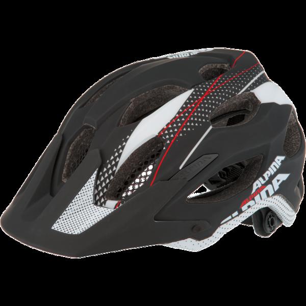 Летний шлем ALPINA Enduro Carapax black-white-red