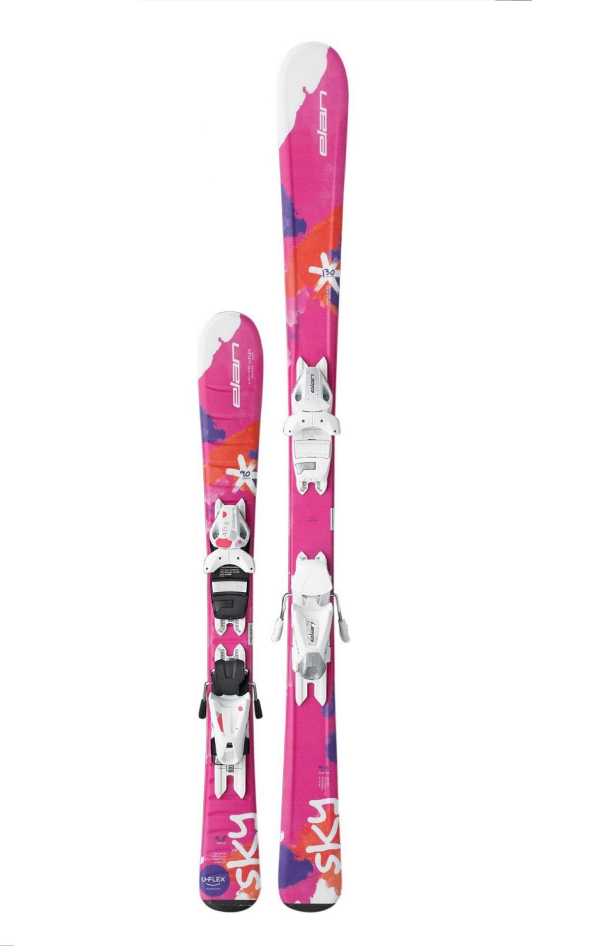 Горные лыжи с креплениями Elan 2016-17 SKY QS EL 7.5 (130-150)