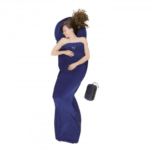 Вкладыш в спальник Salewa Liners and Pillows MICROFLEECE LINER SILVERIZ.ZIP ( LEFT ) DARK BLUE /