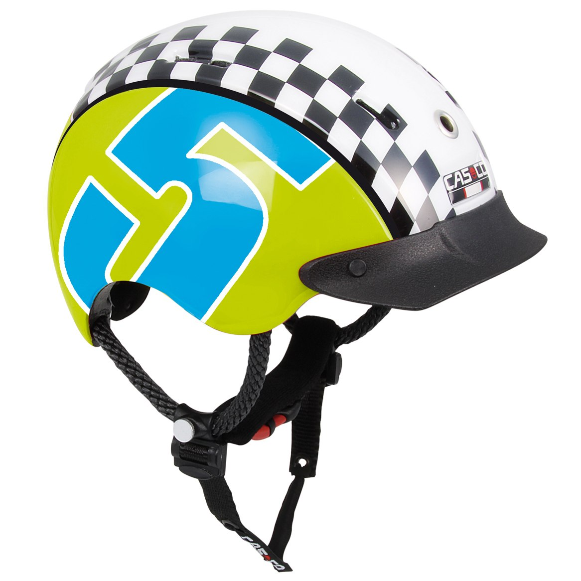 Летний шлем Casco YOUTH & KIDS Mini-Generation Racer 5 green-blue