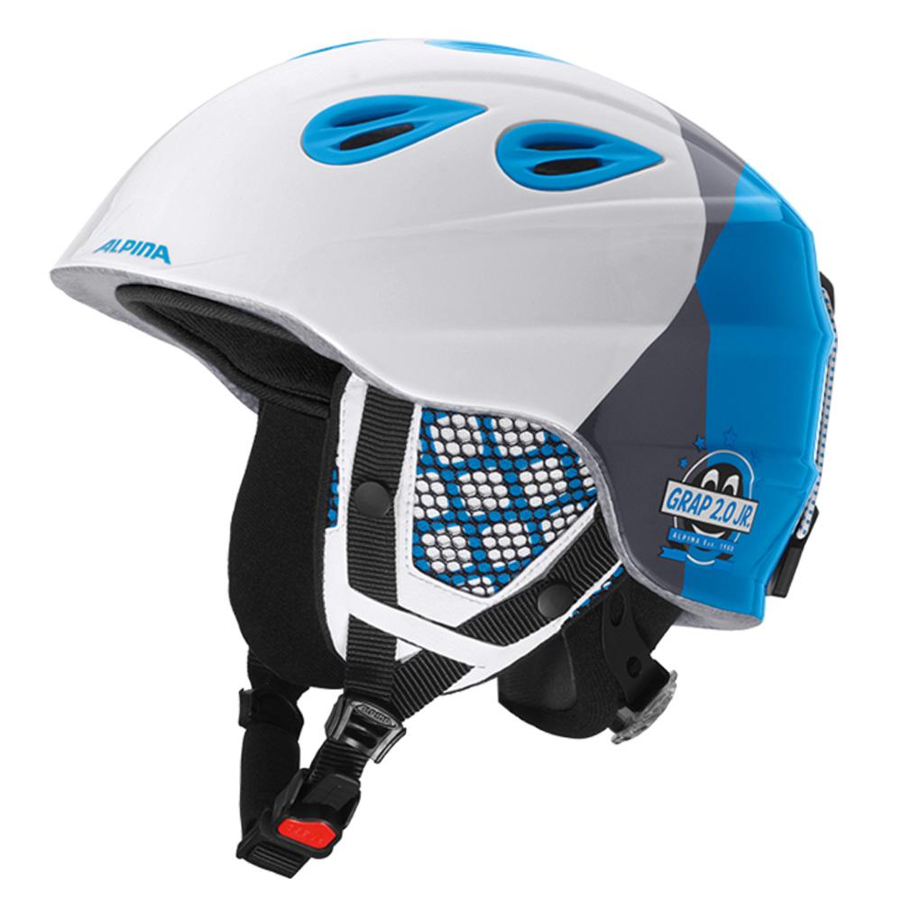 Зимний Шлем Alpina GRAP 2.0 JR white-silver-blue