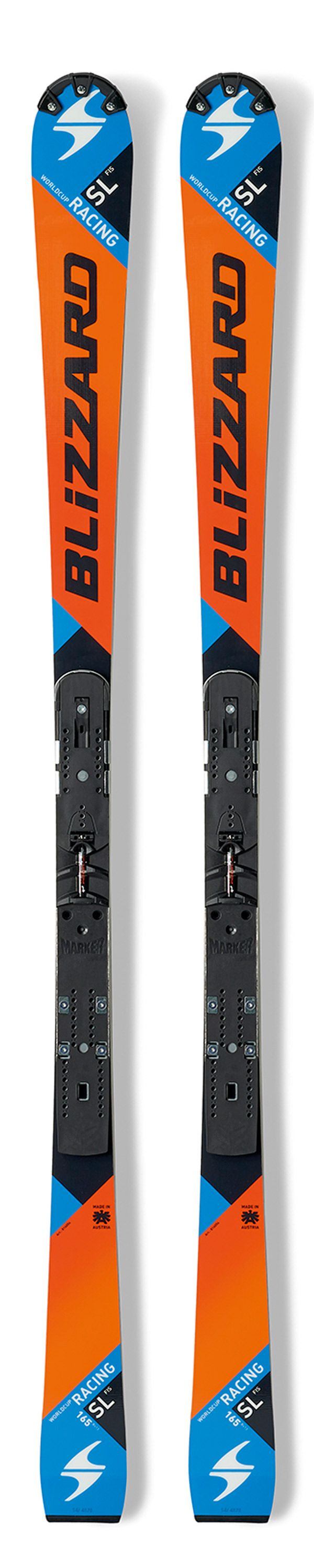 Горные лыжи Blizzard 2015-16 SL FIS-RACING (FLAT+PLATE) ORANGE-BLACK-BLUE