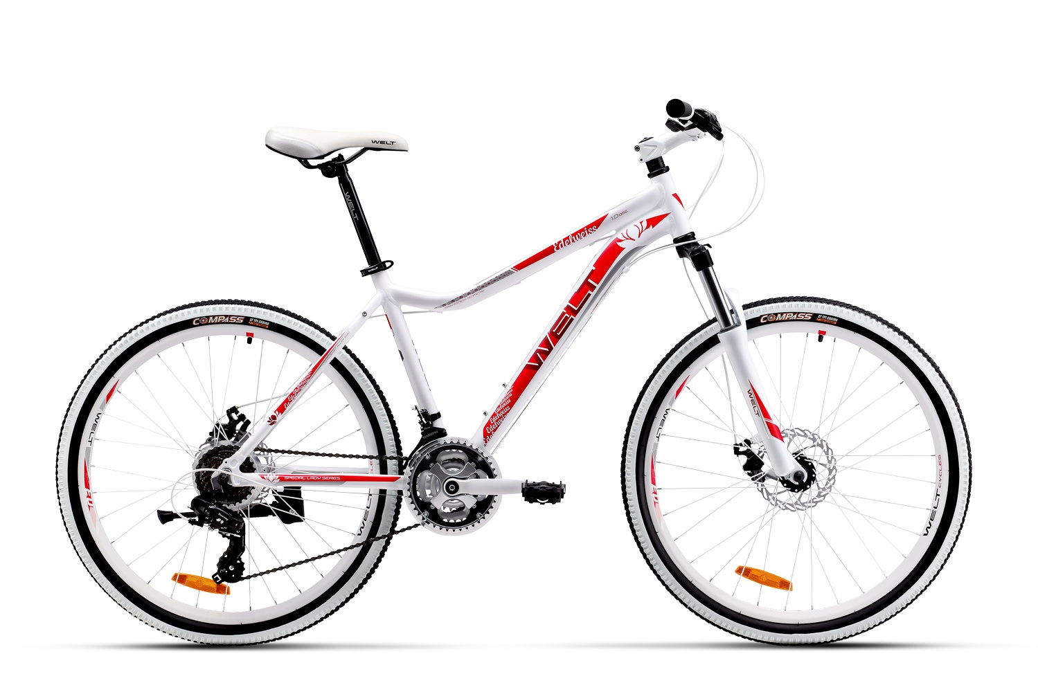 Велосипед Welt Edelweiss 1.0 D 2016 white/red/