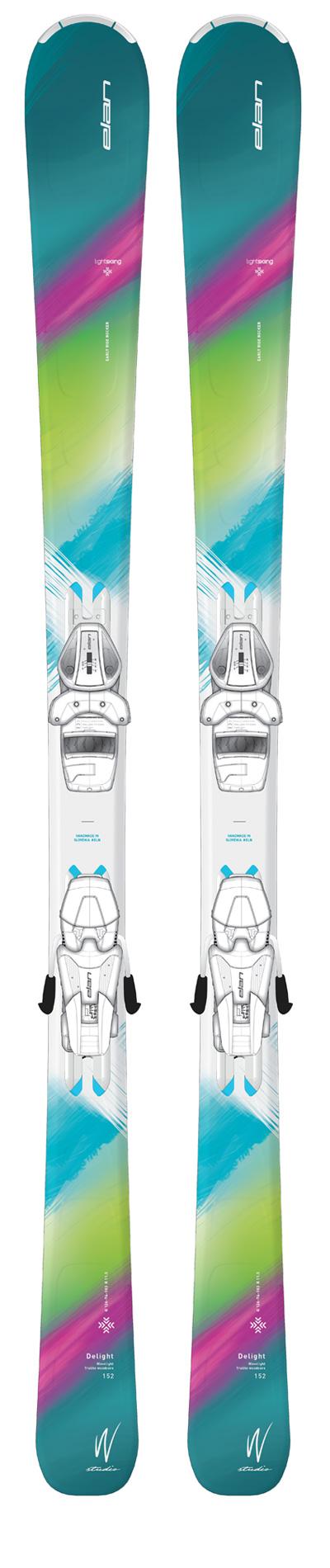 Горные лыжи с креплениями Elan 2016-17 DELIGHT CHARM LS ELW9.0