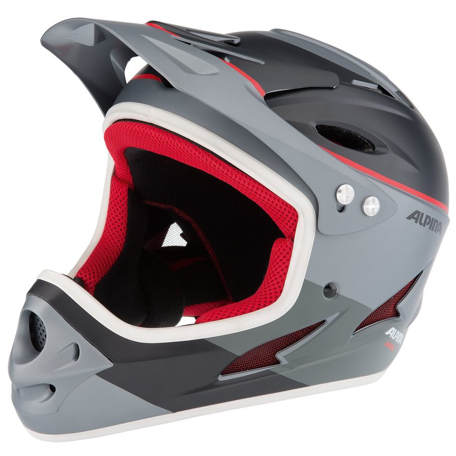 Зимний Шлем Alpina FULLFACE titanium-red