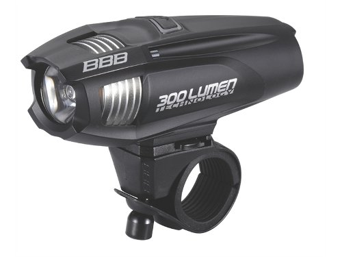 Фонарь передний BBB Strike 300 lumen LED black rechargealbe lithium ion 2300mAh battery black (BLS-71)