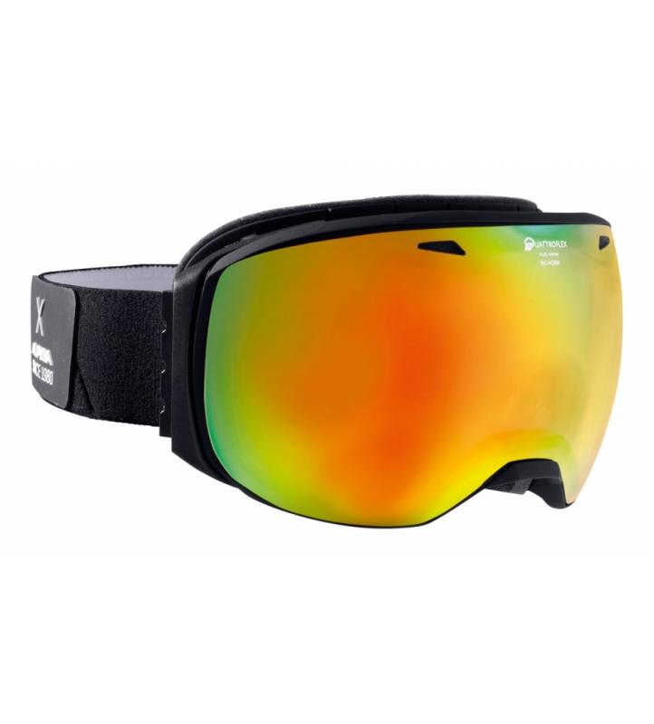 Очки горнолыжные Alpina BIG HORN QMM black matt_QMM red sph. S2