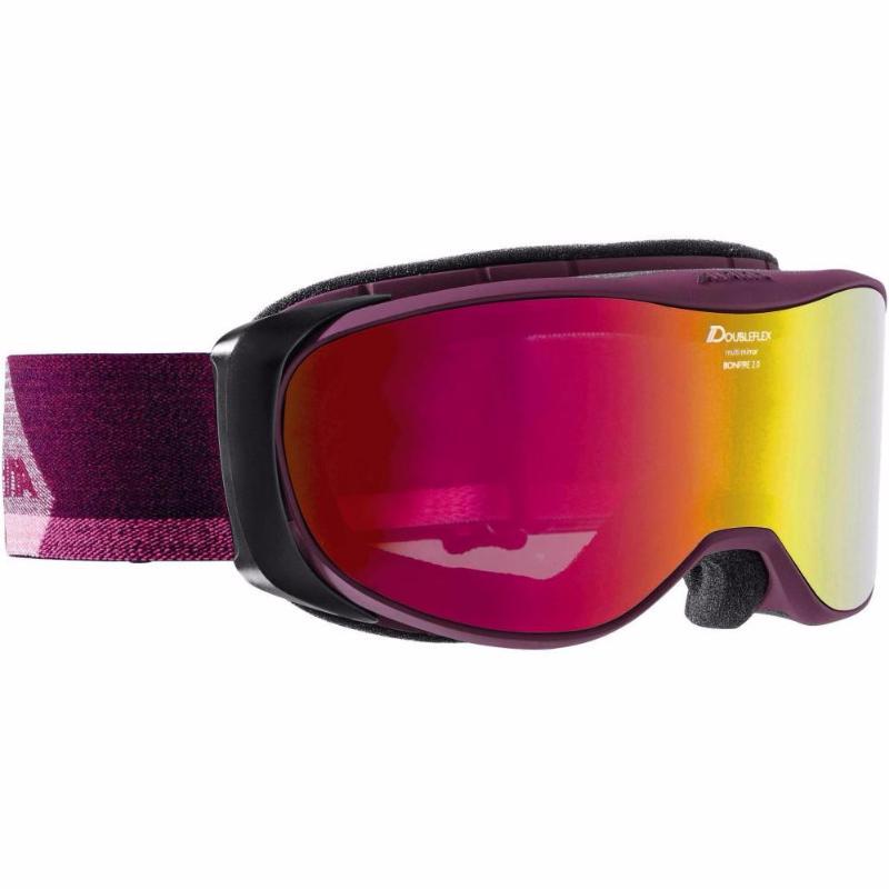 Очки горнолыжные Alpina BONFIRE 2.0 MM deepviolet_MM pink S2