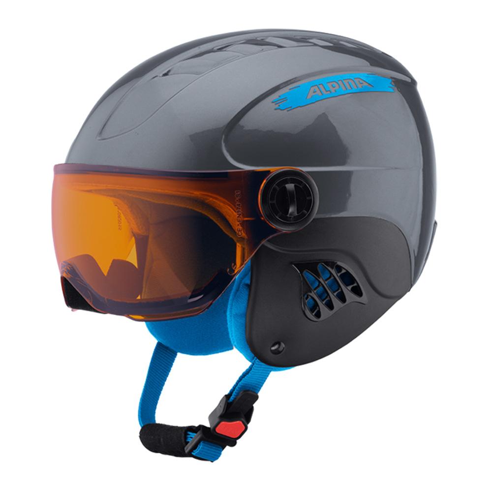 Зимний Шлем Alpina CARAT VISOR grey-blue