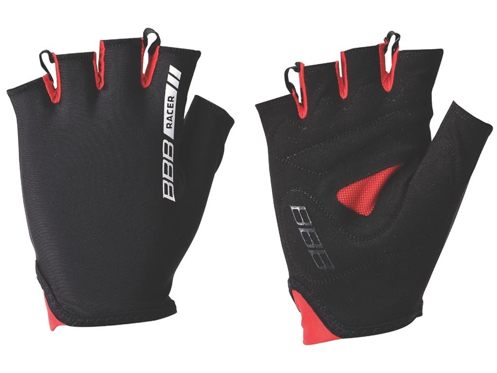 Перчатки велосипедные BBB 2015 gloves Racer black red (BBW-44)