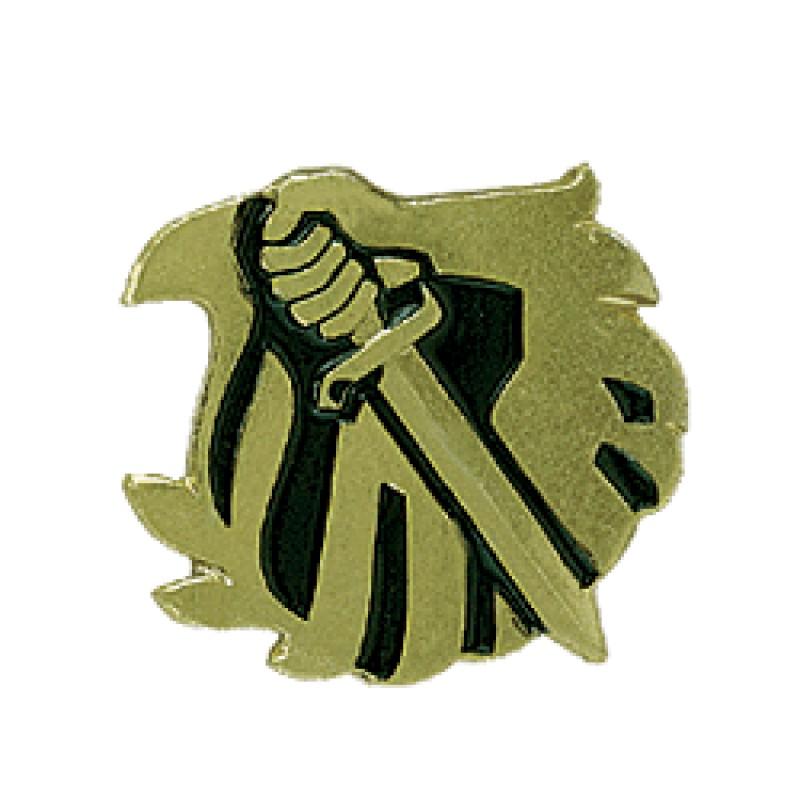 Эмблема петличная Охранник повседневная металл