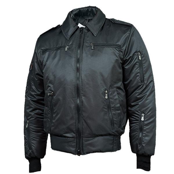 Куртка демисезонная МПА-34 (Пилот) черный твил/файбертек 120