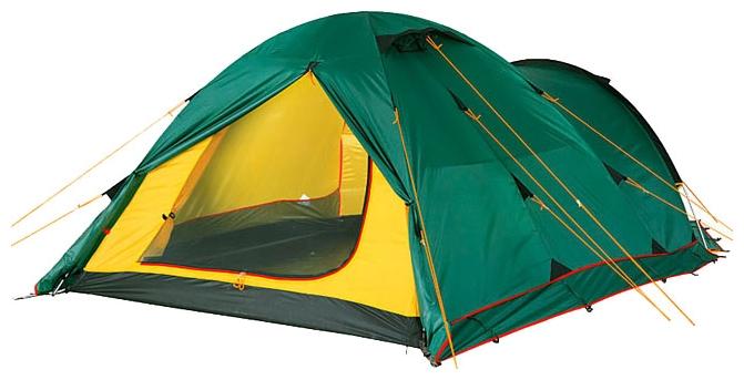 Трехместная туристическая палатка купольного типа для путешествий с велосипедами или большим багажом Alexika Tower 3 Plus зеленый, Палатки 3-местные - арт. 264570321