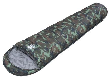 Легкий летний спальный мешок в расцветке камуфляж KSL Trekking Nord Camo