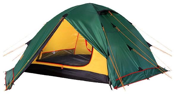 Универсальная трехместная туристическая палатка с двумя входами и двумя тамбурами Alexika Rondo 3 Plus зеленый, Палатки 3-местные - арт. 264450321