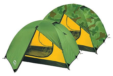 Четырехместная туристическая палатка с двумя входами и двумя тамбурами KSL Camp 4 зеленый