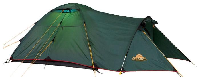 Трехместная туристическая палатка купольного типа для путешествий с велосипедами или большим багажом Alexika Tower 3 зеленый, Палатки 3-местные - арт. 264560321