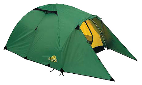 Трехместная туристическая палатка с повышенной ветроустойчивостью Alexika Nakra 3 зеленый, Палатки 3-местные - арт. 264420321