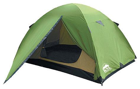 Трехместная туристическая палатка KSL Spark 3 зеленый, Палатки 3-местные - арт. 279210321