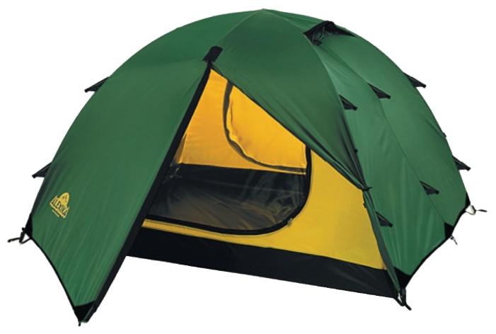 Универсальная трехместная туристическая палатка с двумя входами и двумя тамбурами Alexika Rondo 3 зеленый, Палатки 3-местные - арт. 264440321
