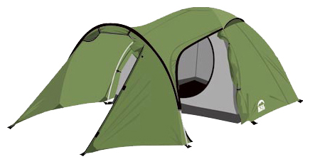 Трехместная туристическая палатка с большим тамбуром KSL Cherokee 3 зеленый, Палатки 3-местные - арт. 280190321