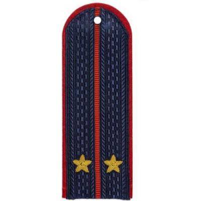 Погоны Полиции Лейтенанта с вышитыми звездочками (пара)