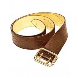 Ремень офицерский с двушпеньковой пряжкой коричневый натуральная кожа