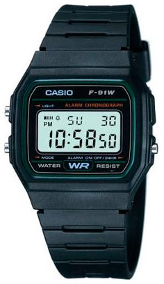 Часы Casio F-91W-3S