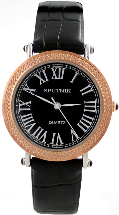 Наручные часы Спутник Л-200641/6 (черн.) ч.р.