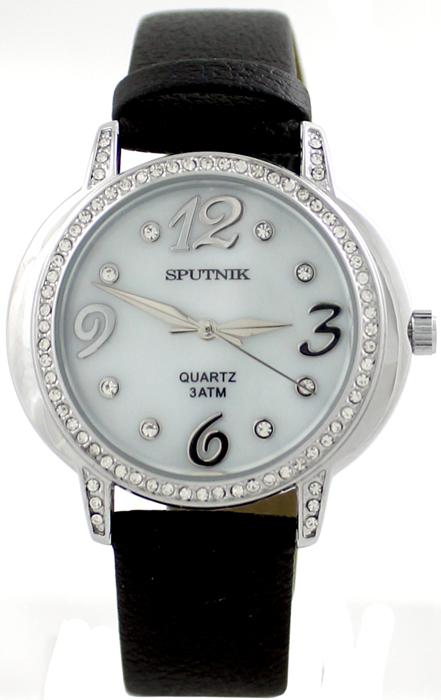 Наручные часы Спутник Л-300471/1 (перл.) ч.р.