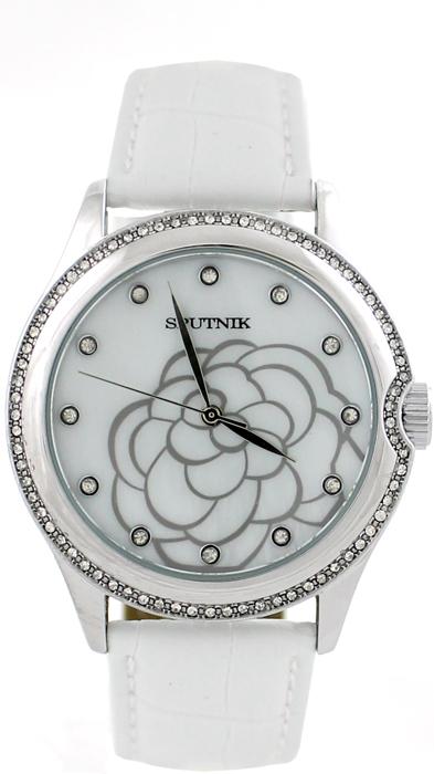 Женские наручные часы Спутник Л-300482/1 (перл.) б.р.
