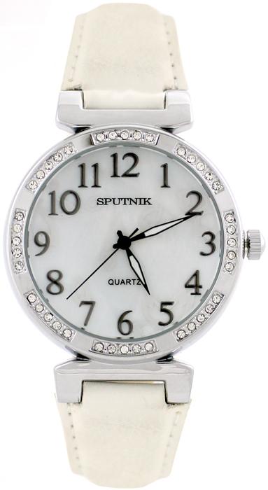 Женские наручные часы Спутник Л-300570/1 (перл.) б.р.