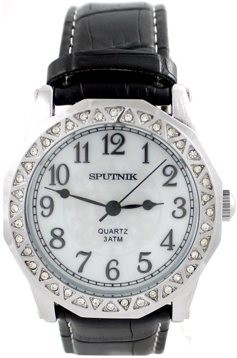 Наручные часы Спутник Л-300640/1 (перл.) ч.р.