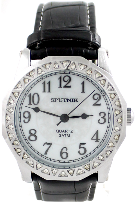 Женские наручные часы Спутник Л-300640/1 (перл.) ч.р.