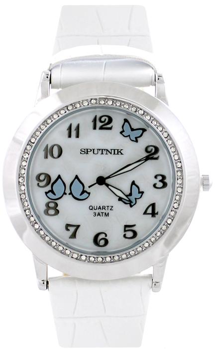 Наручные часы Спутник Л-300680/1 (перл.) б.р.