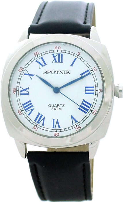 Мужские наручные часы Спутник М-858061/1 (бел.,син.оф.)