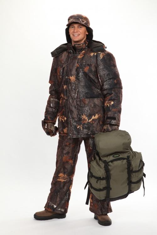 Костюм мужской Вепрь зимний, камуфляж алова Смешанный лес подкладка флис 180г