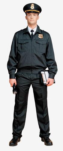 1208 костюм для охраны мужской матовая смесовая