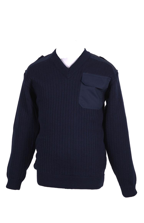 4303 свитер с V-образной горловиной п/ш