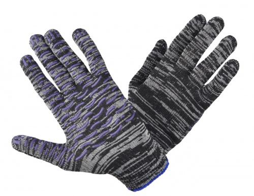 Перчатки Березка трикотажные, ПВХ-волна ( 10 класс /люкс), 48 гр/пара