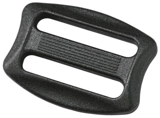 Пряжка двухщелевая 25мм 1-00420 черный Duraflex