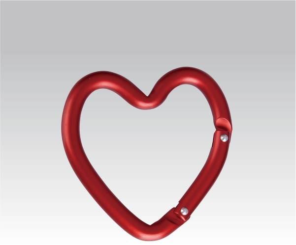Карабин Сердце (упак=10 шт), 3221