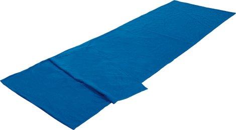 Вставка в мешок спальный Cotton Inlett Travel синий, 225см длина, 23507