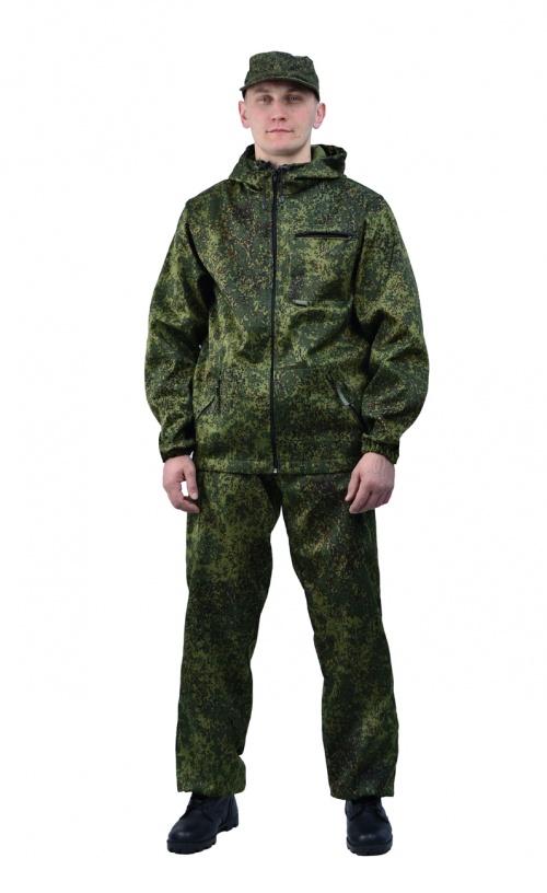 Костюм мужской Турист 1 летний, ткань Тиси сорочечная-облегченная, камуфляж Пиксель