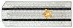 Погоны ВМФ вышитые Капитан 3 ранга парадные на белую рубашку