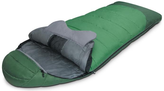 Мешок спальный FOREST зеленый, правый